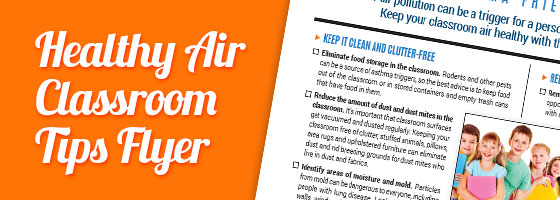 Healthy Air Classroom Tips flyer